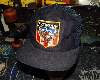 311b10c1c0243 EVINRUDE boat motor Trucker Mesh Hat - vintage New Era Pro Design rare  snapback