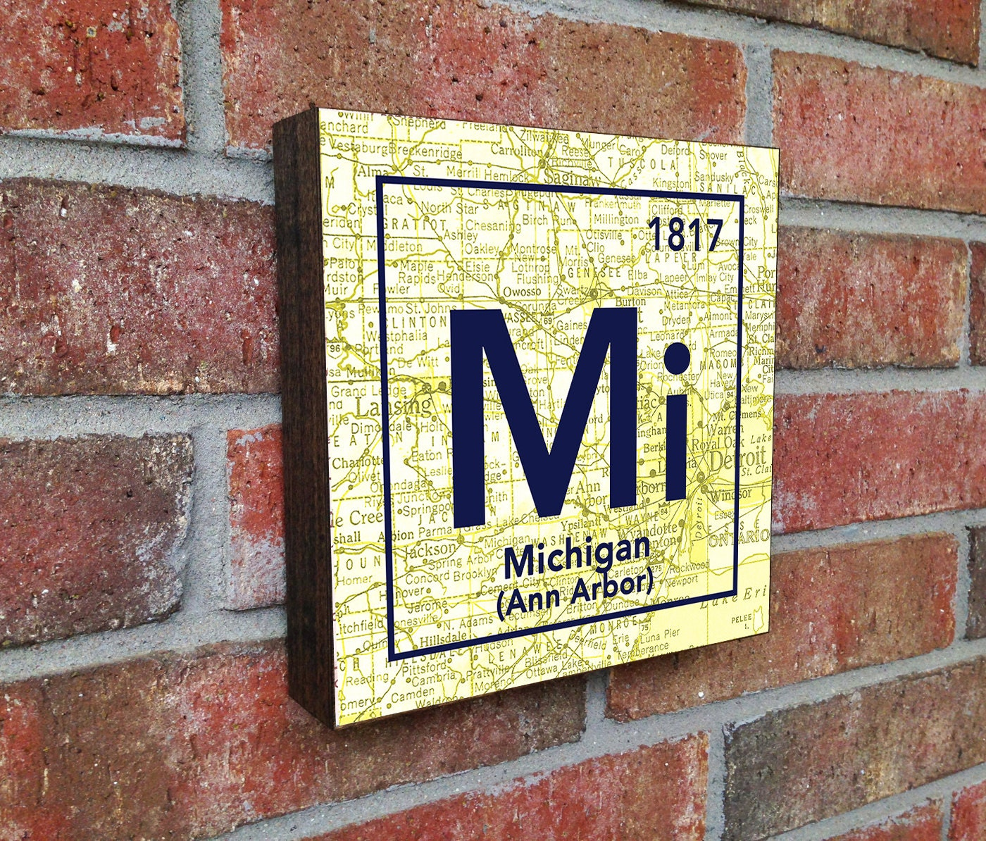 Michigan Wolverines University Ann Arbor MI Vintage Periodic