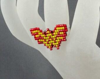 Wonder Woman Ring - Pixel Ring Super Hero Jewelry Pixel Jewelry Wonder Woman Jewelry Pixel Ring Pixel Jewelry