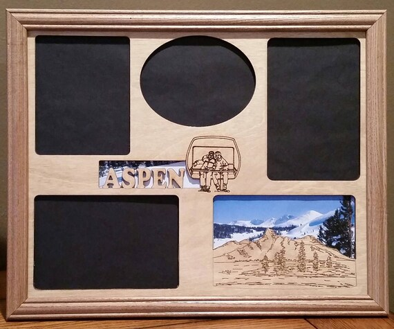 11x14 Aspen Colorado Vacation Laser Engraved Picture Frame with 4 ...
