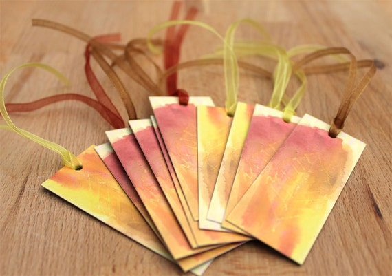 Autumn Gift Tags Gift Tags Leaf X 10 Rustic Leaves