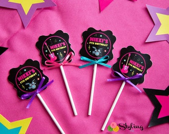 Rock Star Cupcake Toppers