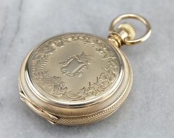 Antique Elgin Pocket Watch, Hunters Pocket Watch, Victorian Watch, Watch Collector F698WQ54-N