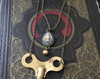 Vintage Wind-Up Key Necklace