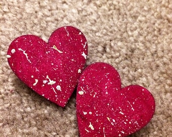 Red and Pink Heart Pin