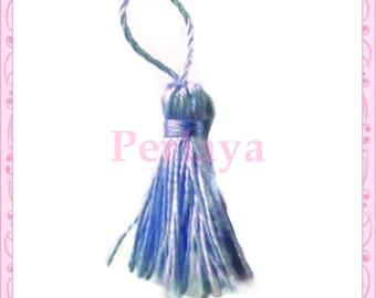 Set of 5 blue 4cm tassels REF1457