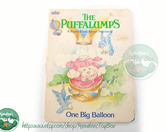 The Puffalumps One Big Balloon Board Book 1980s