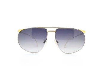 Genuine 1990s Fila 6805 Silver and Gold Aviator Vintage Sunglasses // New Old Stock // Made in Italy