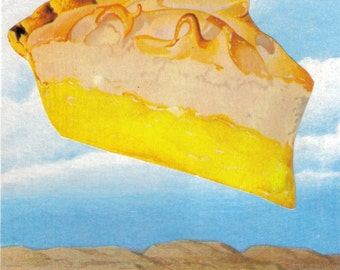 Humorous Collage visual pun pie in the sky