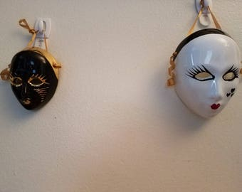 Pair of Vintage Wall Masks Made in Italy