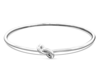 Sterling Silver Infinity Bracelet Gift for Her - Celtic Knot Bracelet - Minimalist Bracelet - Silver Bangle Simple Bracelet