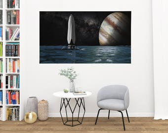 Spacex Space Travel DECAL - Space Poster - Space x - Space Travel Poster - Spacex Posters - Space Art - Space Print DECAL - Spaceflight