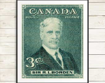 Sir Robert Borden, Canadian posters, Canadian art, Prime Minister Canada, Canadian Prime Minister, Sir Borden, Canadian history, retirement