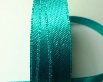 The meter 1.33 b Turquoise 13 mm satin ribbon