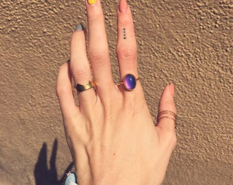 Oval Mood Ring | sterling silver or 18k gold