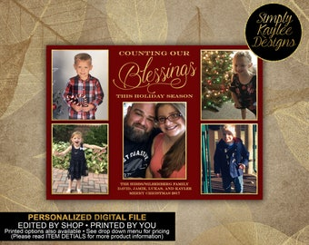 Counting Our Blessings Christmas Greeting Card