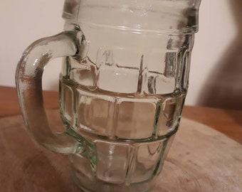 Vintage barrel beer glass