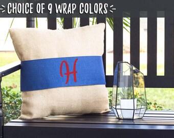 End of Year Teacher Gifts, Teacher Appreciation Week Gifts, Farmhouse Pillows, Decorative Burlap Pillows, Monogrammed Pillow Gift, 506738632