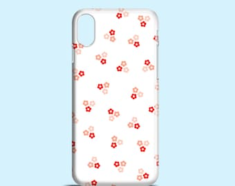 Red and Pink Daisies iPhone X case / iPhone 8 / floral iPhone 7 / cute iPhone 6s / graphic iPhone 6 case / summer iPhone 5, 5S, SE, samsung