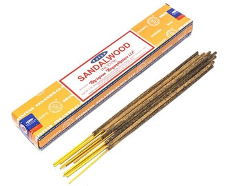 Sandal Wood Incense - fragrance incense stick satya nag champa handrolled occult ritual magick work altar
