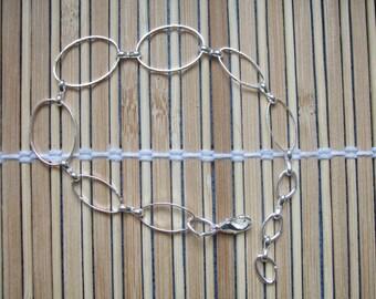 Bracelet 21 cm silver color metal