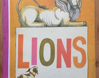 Lions, 1974 Houghton Mifflin Textbook illustrated by Trina Schart Hyman