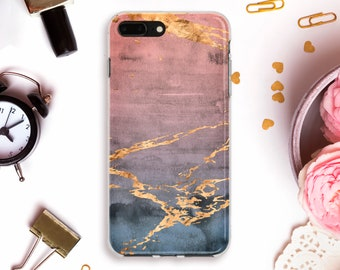 iphone case pink phone case marble iphone case gold phone case gray iphone case 8 Galaxy s7 Edge Case s6 phone case s8 plus phone NASi_013
