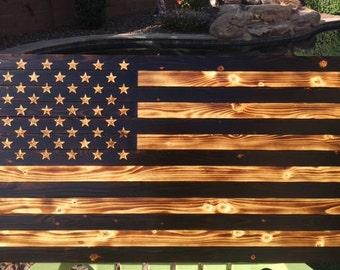 Charred American Flag