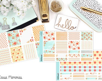 WATERCOLOR POPPIES KIT Paper Planner Stickers