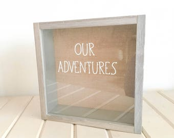 Our Adventures Shadow Box, Adventure Ticket Shadow Box FREE SHIPPING