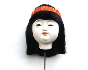 Japanese Doll Head Ichimatsu Doll Body Part D15-18 Kawaii Girl Head
