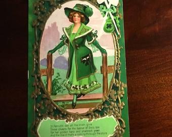 Vintage Embossed St. Patrick,s Day postcard