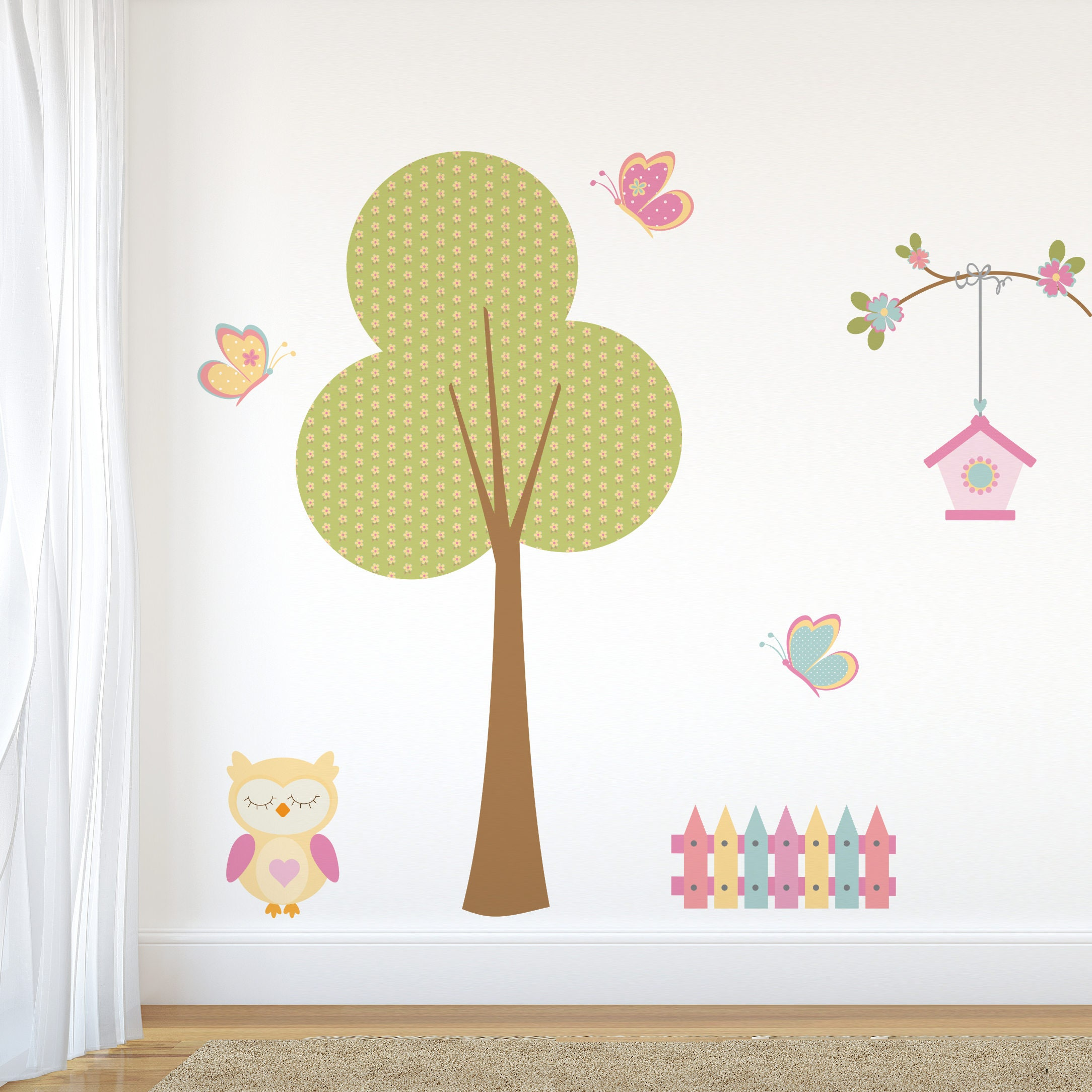 Owl and tree wall Sticker Wall Stickers Wall Decoration