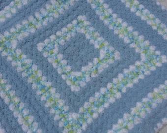 It's a Boy! Warm Fuzzy Crochet Baby Blanket