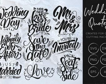 Wedding Quotes SVG Bundle