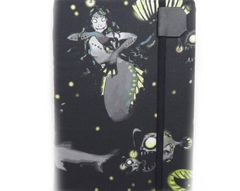 Kindle Paperwhite Cover - Zombie Mermaid of the Deep - Kindle Touch eReader case - scary fish cover for Kindle Keyboard tech gift