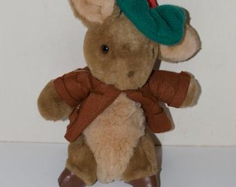 Vintage Benjamin Bunny Beatrix Potter Eden Toy Stuffed Animal Plush Tag Peter Rabbit