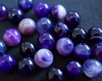 25 beads AGATE 8 mm H2324