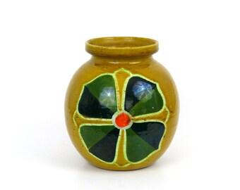 Yellow Bitossi Flower Vase