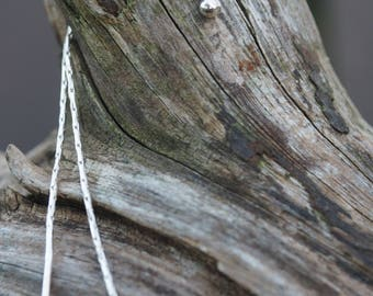 Sterling silver threader earrings