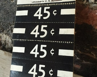 Vintage old paper price tags old price tags general store 45cents