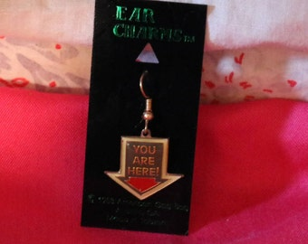 Vintage You Are Here Ear Charm
