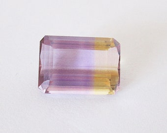 Natural Ametrine 12x10mm Emerald Cut 5.30cts