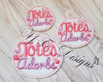 Totes Adorbs Feltie Totally Adorable Feltie Embroidery File