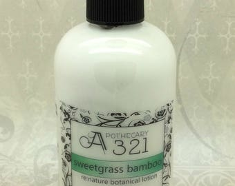 Sweetgrass Bamboo Re:Nature Botanical Vegan Lotion Natural Paraben Free Lotion