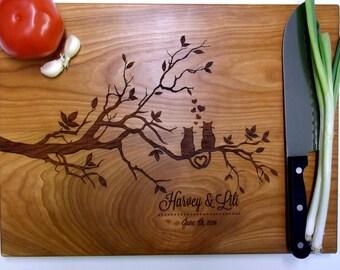 Personalized Cutting Board Custom Cat Cutting Board Engraved Wood Cutting Board Wedding  Anniversary Gift Chopping Board Housewarming Gift