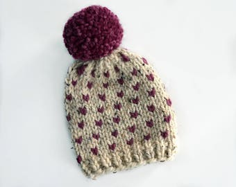Ready to ship! Kids fair isle hat (ages 3-5)