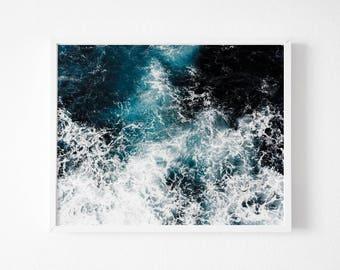 Wave Print, Ocean Wave Print, Wave Art, Wave Decor , Surf Poster, Ocean Print, Seascape Poster, Fine Art Photography, Digital Print, Ocean
