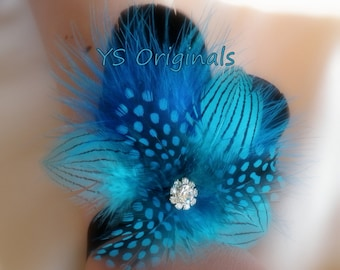 30% off Ready to Ship! Teal Monroe Corsage