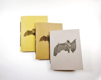 Mini Notebook Set, Jotters, Blank Notebooks, Pocket Notebooks, Cahiers, Bat Notebooks, Halloween Notebooks, Small Notebooks, Mini Journals